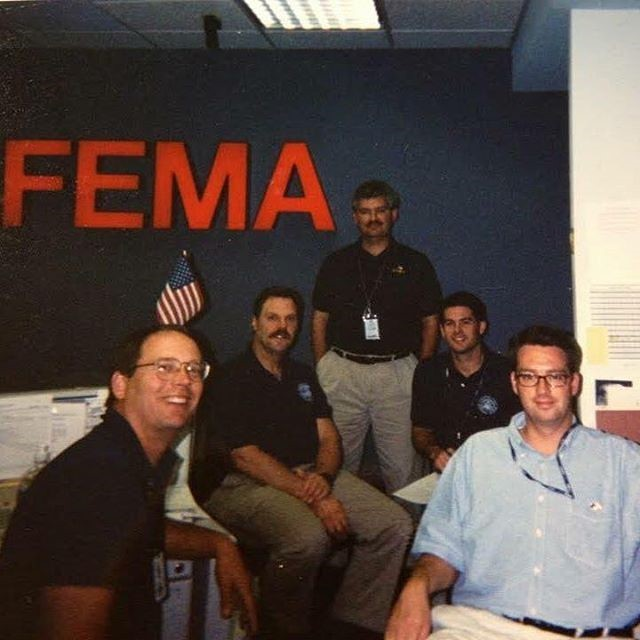 The crew that worked FEMA's NIEOC for Urban Search & Rescue. #9/11 #neverforget #usar #brotherhood #fire