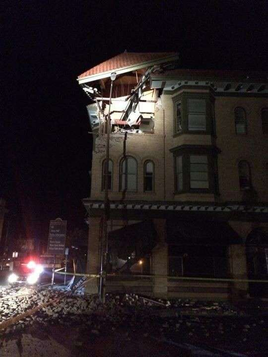 Napa Earthquake 6.1 mag - building damage 2
