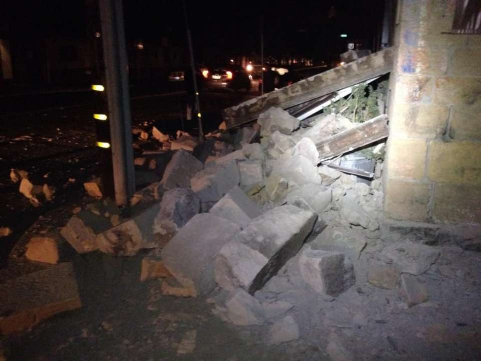 Napa Earthquake 6.1 mag - building damage