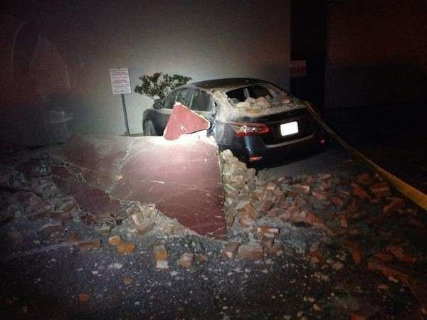Napa Earthquake 6.1 mag - car damage