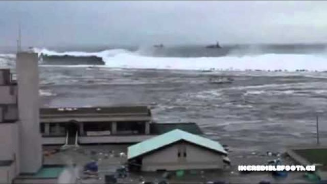 Humongous Tsunami Devours Building instantly - Never before seen footage